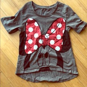 Glitter blow Minnie Mouse T-shirt